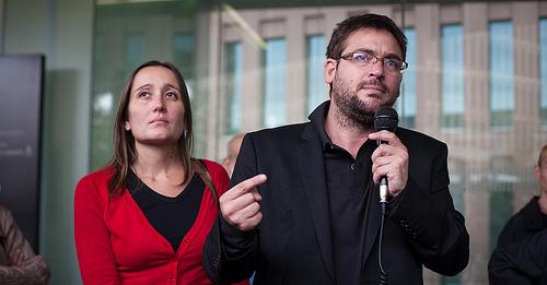 Albano Dante i Marta Sibina, editor de la revista Cafeambllet.