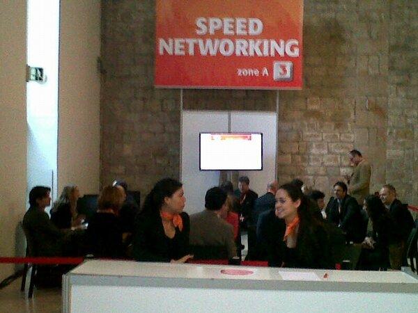 Imagen de la zona donde se ha realizado el Speed Networking