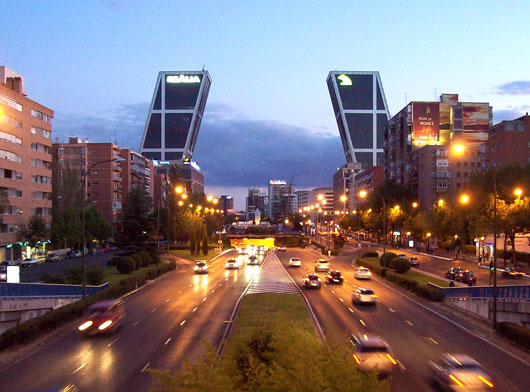 Paseo de la Castellana, Madrid. Fuente: www.fotosdemadrid.es