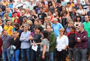 Concentración en protesta por las detenciones de Herrira. FUENTE: ccaa.elpais.com / Fernando Domingo Aldama