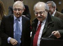 De izquierda a derecha, el Ministro Montoro y el Conseller Mas-Colell
