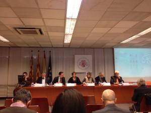 """Imagen de la segunda mesa de la jornada """"El derecho de autodeterminación: análisis jurídico"""""""