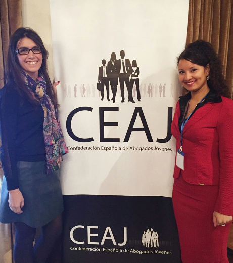 Cristina Llop, presidenta de CEAJ, y Elisabeth Batista, presidenta de la EYBA.