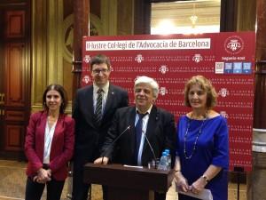 De izquierda a derecha: Teresa Maria Pitarch, Carles Mundó, Oriol Rusca y Mercè Claramunt   El Jurista