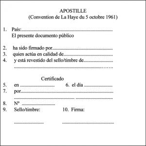 Ejemplo de apostilla (Fuente: http://www.traduccion-jurada-oficial.com/blog/wp-content/uploads/2010/10/apostilla-haya-espanol.png)