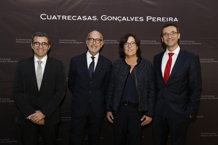 De izquierda a derecha: Alberto Palacios, Rafael Fontana, SIlvia Albertí y Germán Domínguez.