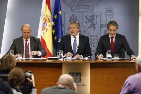 Rueda de premsa posterior al Consejo de Ministros del pasado viernes. Fuente: Moncloa.
