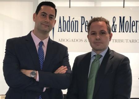 Gonzalo Blanco junto a Antonio Pedrajas, socio director de organización de Abdón Pedrajas & Molero.