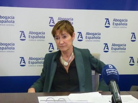 Victoria Ortega, presidenta de la Abogacía