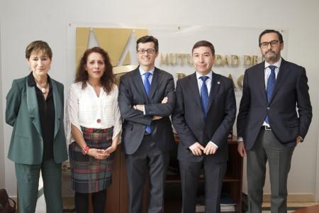 De izqda. a dcha: Victoria Ortega, María Sergia Martín, José Manuel Pérez, Manuel de la Peña y Enrique Sanz