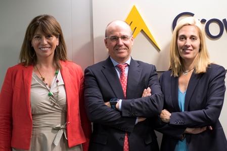 María Jesús Parra, Javier Llorente y Gloria Reig