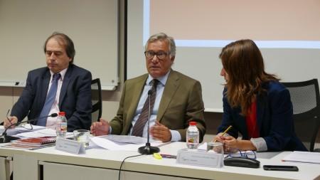 De izquierda a derecha: Josep-Fermí Pinyol i Pina (Director General), José Felix Alonso-Cuevillas Sayrol (Presidente) y Inés Sanchez de Movellán Torent (Secretaria).