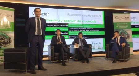 De izq a dcha: Miquel Fortuny, Carles Mundo, Josep María Coronas y Daniel Benítez