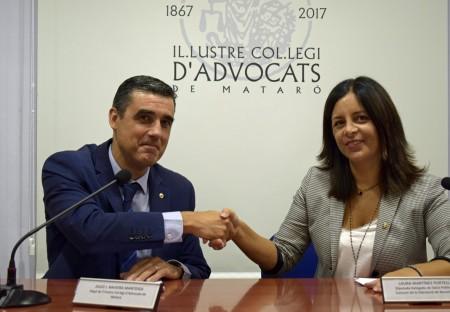 Firma convenio ICA Mataró y Diputación Barcelona