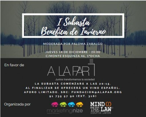 I Subasta de Invierno Mind The Law y Marketingnize