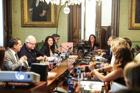 Junta de Gobierno del ICAB con Maria Aventin