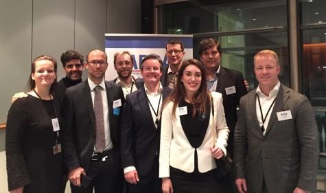 Miembros integrantes de APRA en la presentación de la nueva asociación en Bruselas