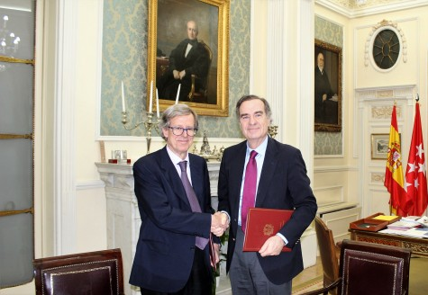 José María Alonso y Antonio Hernández-Gil firman un convenio para impulsar los servicios de Nueva Mutua Sanitaria__