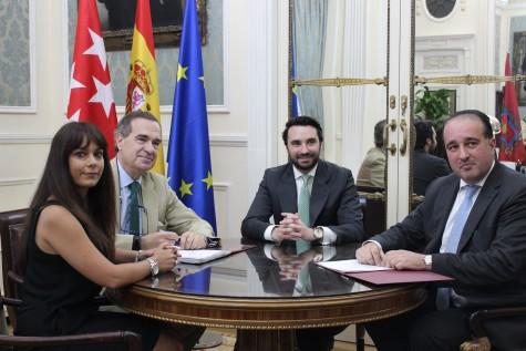 De izquierda a derecha, Maia Román, José María Alonso, Alberto Cabello y Ángel Llamas