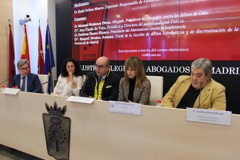 1. De izq. a dcha. Manuel Ródenas, Raquel Muñoz, Raúl Ochoa, Ana Pardo y Esteban Ibarra