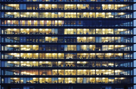 Office-building-at-night