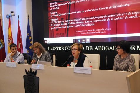 De izq a dcha. Antonio M Vadillo, María Girona, Dolores Fernández y Pilar de Lara