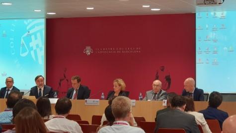 Fotografía: (de izq. a der.) Jaume Antich, Francisco Bonatti, José Ramón Navarro, Isabel Vizcaíno, Miguel Ángel Gimeno y David Velázquez Vioque.