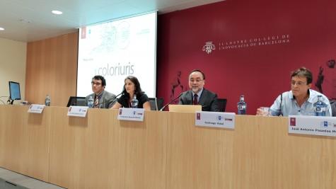 Fotografía: (De izq. a der). Jacint Soler, Iris María Molina, Francisco Bonatti, Santiago Vidal, José Antonio Pasadas.