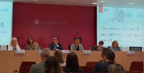 Fotografía: (de izq. a der.) Rosa Mª Sánchez, Gloria Hernández, Frederic Munné, Maria Teixidor, Lourdes Parramón y Eugenia Navarro.