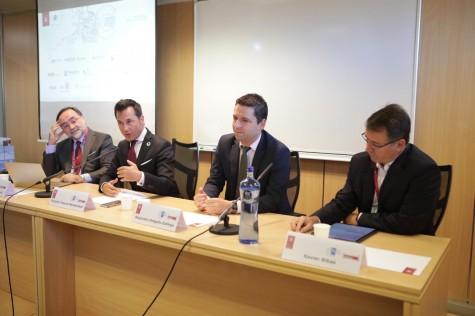 Fotografía: (de izq. a der.) Francisco Bonatti, Rodolfo Tesone, Alejandro Delgado y Xavier Ribas.