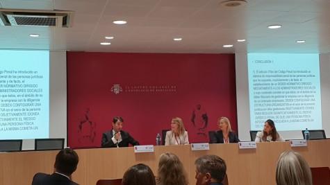 Fotografía: (de izq. a der.) Óscar Serrano Zaragoza, Montserrat Pla, Esther Bitriu y Carmen Segovia Blázquez