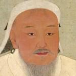 Retrato de Genghis Kahn en sus últimos años.